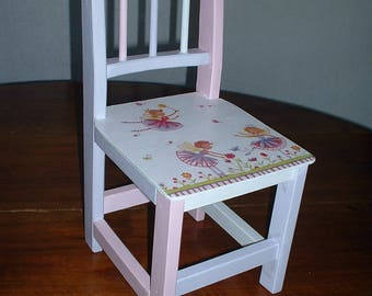 """SMALL chair """"elves in the garden"""""""