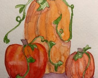 Water color pumpkins