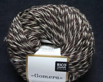 Pincushion Ecru Brown Rico Design Gomera Fabre 008