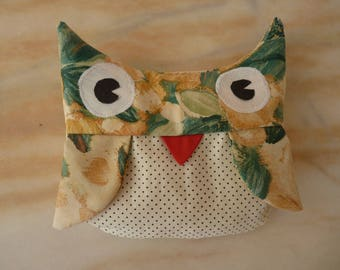 Heating pad dry OWL in the cherry pits, organic, artisanal heating
