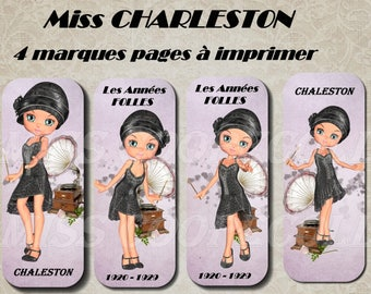 "4 bookmarks to print ""Miss charleston"""