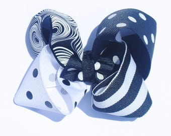 Four Color Twisted Boutique Bow