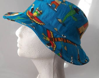 Indian fabric fedora Hat