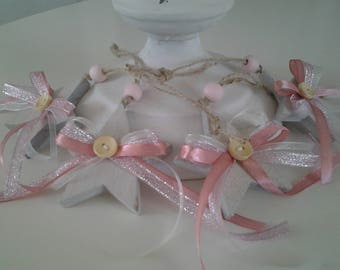 """Four star """"Pink"""" decorated wooden"""