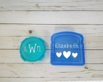 Blue and Teal Lunch Set