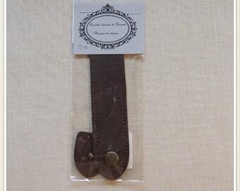Bag dark brown flap