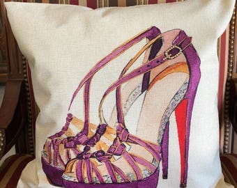 High Heel Fashion Decorative Pillow Cover, Designer