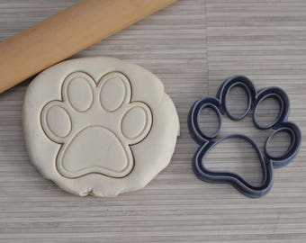 Paw cookie cutter - Dog Paw Cookie cutter - Birthday cookie cutter - Cookie cutter for fondant and cake design