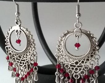 """Earrings """"red passion"""""""