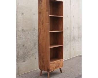 Walnut Bookcase Mid-Century