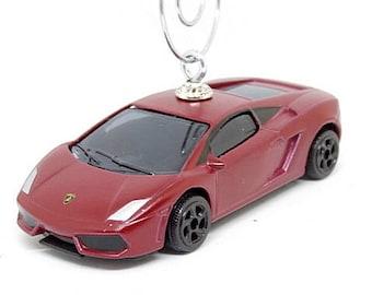 Red Lamborghini Gallardo LP560 4 Car Christmas Ornament, Ornament Hook  Included, BettyGiftStoree