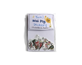 Yum's mini pig stickers