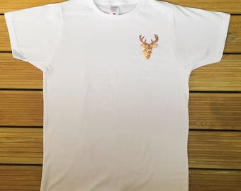 Stag Embroidered T-Shirt (Male & Female)