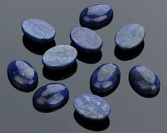 1 cabochon 13 x 18 mm genuine lapis lazuli.