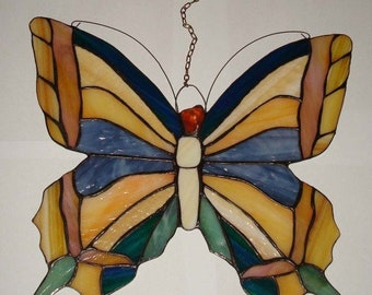 Stained Glass Tiffany Butterfly, Baltic Amber