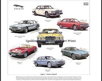Jaguar 'Modern Classics' Fine Art Print - XJ-S XJ6 XJ12