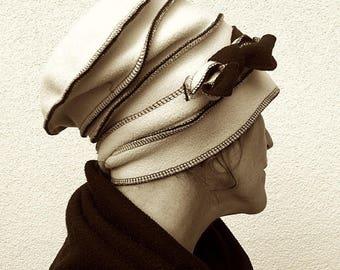 Reversible fleece Hat Black'n White