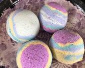 Frosted Unicorn Breath - Lavender, vanilla scented. Handmade Bath Bomb - custom order