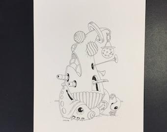 Original drawing in black ink