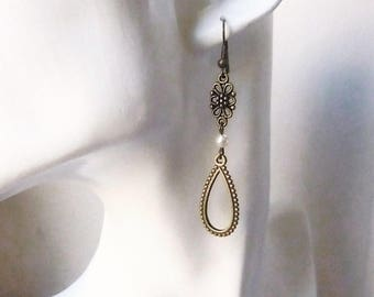 "Bronze wedding ""Sienna"" earrings"