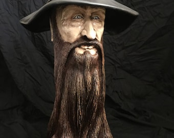 Wood Wizard Sculpture
