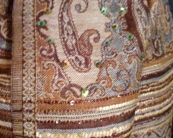 Wool and viscose color taupe and Brown scarf