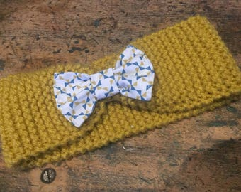 Knitted headband/Turban with bow