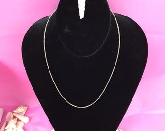 Sterling silver chain L078