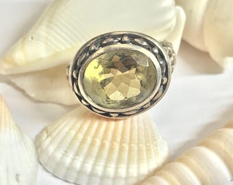 925 Yellow Stone Ring L276