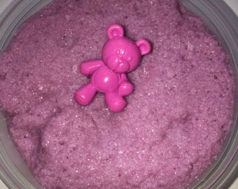 Pink teddy bear fur~non-scented~comes with charm~8oz!