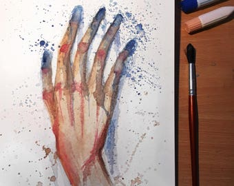 A painter's hand