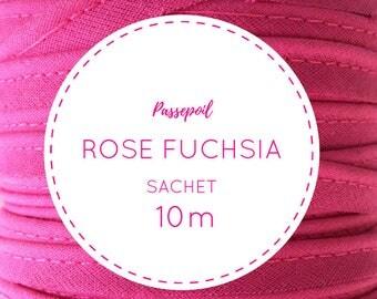 10 m cotton piping - hot pink bag / squash
