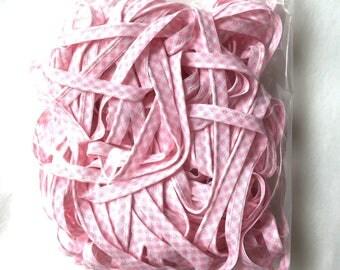 Pink piping bag MIX 68 - gingham - 20 m