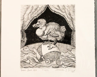 Dodo's Last Act Etching