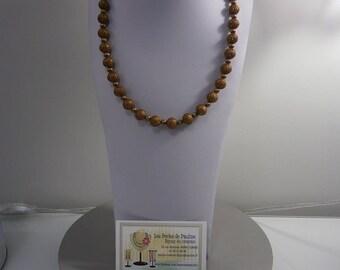 Filigree bronze beaded necklace