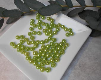 Beads 8mm - acrylic green anise - sold per 100