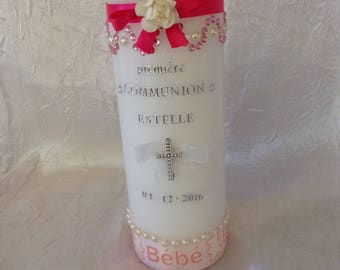 Personalized communion candles