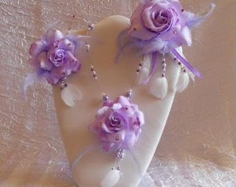 Set 3 PCs flower is pearl beads