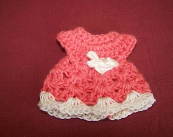 Mini pink crochet cotton and white dress