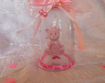 """Teddy bear pink and white lozenge composition """"sold vacuum without dragees"""""""