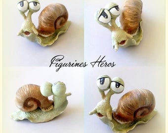Cute figurine snail