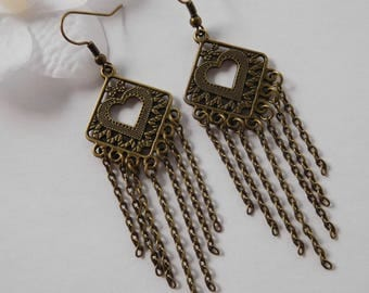 Earrings retro bronze