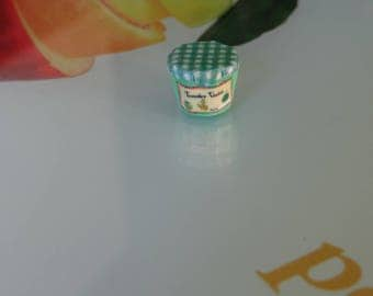 magnetic Green Tomato jam made by myself with polymer clay