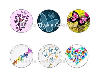 """50 Images numériques pour loisirs créatifs """"Papillons 7"""""""