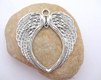 Big pendant angel's wings, pendant angel's wings, steampunk charms