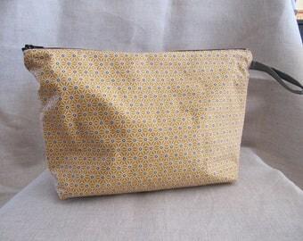 Mustard yellow toiletry bag