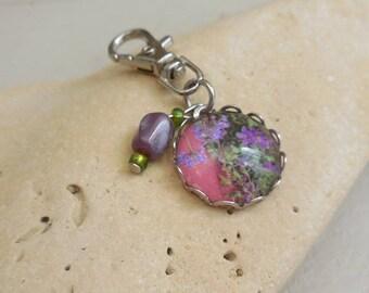 """Bag charm / key ring """"Lilac"""""""