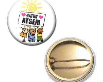 Badge 25 mm - Super pre-school kindergarten kids gift