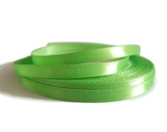 Green 6 mm satin ribbon