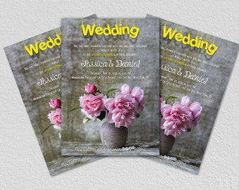 Printable Wedding Invitation, Wedding Invitation, Wedding Invite, Invitation with personalizations, PDF Download